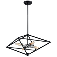 Nuvo 60/7008 Legend 4 Light 19 inch Black and Polished Nickel Pendant Ceiling Light