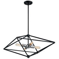 Nuvo 60/7009 Legend 4 Light 22 inch Black and Polished Nickel Pendant Ceiling Light