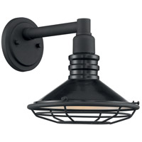 Nuvo 60/7031 Blue Harbor 1 Light 10 inch Gloss Black and Silver Outdoor Wall Fixture