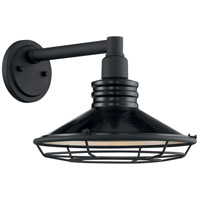Nuvo 60/7032 Blue Harbor 1 Light 10 inch Gloss Black and Silver Outdoor Wall Fixture