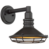 Nuvo 60/7041 Blue Harbor 1 Light 10 inch Dark Bronze and Gold Outdoor Wall Fixture