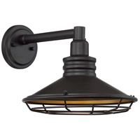 Nuvo 60/7042 Blue Harbor 1 Light 10 inch Dark Bronze and Gold Outdoor Wall Fixture