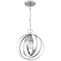 Nuvo 60/7046 Pendleton 1 Light 12 inch Brushed Nickel Pendant Ceiling Light