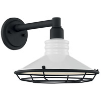 Nuvo 60/7052 Blue Harbor 1 Light 10 inch Gloss White and Textured Black Outdoor Wall Fixture