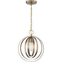 Nuvo 60/7056 Pendleton 1 Light 12 inch Burnished Brass Pendant Ceiling Light