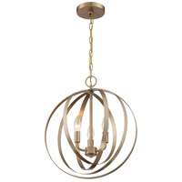 Nuvo 60/7057 Pendleton 3 Light 16 inch Burnished Brass Pendant Ceiling Light