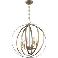 Nuvo 60/7058 Pendleton 6 Light 22 inch Burnished Brass Pendant Ceiling Light