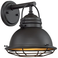 Nuvo 60/7071 Upton 1 Light 11 inch Dark Bronze and Gold Outdoor Wall Fixture