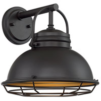 Nuvo 60/7072 Upton 1 Light 12 inch Dark Bronze and Gold Outdoor Wall Fixture