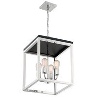 Nuvo 60/7094 Cakewalk 4 Light 14 inch Polished Nickel and Black Accents Pendant Ceiling Light