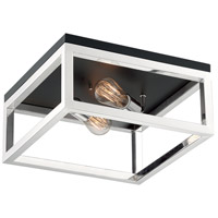 Nuvo 60/7095 Cakewalk 2 Light 14 inch Polished Nickel Flush Mount Fixture Ceiling Light