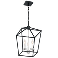 Nuvo 60/7145 Storyteller 3 Light 12 inch Matte Black and Polished Nickel Accents Pendant Ceiling Light