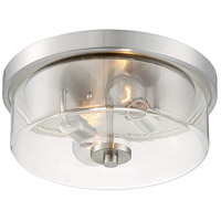 Nuvo 60/7168 Sommerset 2 Light 13 inch Brushed Nickel Flush Mount Fixture Ceiling Light