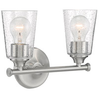 Brushed Nickel Bransel Bathroom Vanity Lights