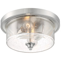 Nuvo 60/7190 Bransel 2 Light 13 inch Brushed Nickel Flush Mount Fixture Ceiling Light