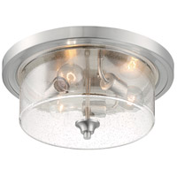 Nuvo 60/7191 Bransel 3 Light 15 inch Brushed Nickel Flush Mount Fixture Ceiling Light