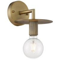 Nuvo 60/7241 Bizet 1 Light 7 inch Vintage Brass Vanity Light Wall Light