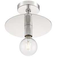 Nuvo 60/7254 Bizet 1 Light 10 inch Polished Nickel Semi Flush Mount Fixture Ceiling Light