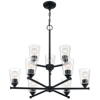Nuvo 60/7289 Bransel 9 Light 28 inch Matte Black Chandelier Ceiling Light