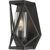 Nuvo 60/7301 Zemi 1 Light 7 inch Black Vanity Light Wall Light