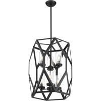 Nuvo 60/7306 Zemi 6 Light 20 inch Black Pendant Ceiling Light