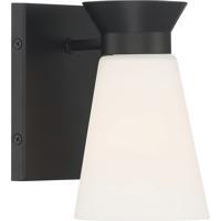 Nuvo 60/7311 Caleta 1 Light 5 inch Black Vanity Light Wall Light