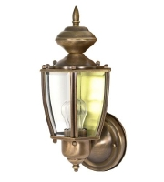 Freeport 1 Light 12 inch Antique Brass Outdoor Wall Light