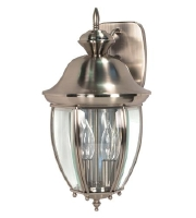 New Haven 2 Light Brushed Nickel Outdoor