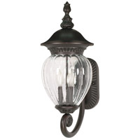 Nuvo Lighting Balun 3 Light Outdoor Wall Lantern in Chestnut Bronze 60/784 photo thumbnail