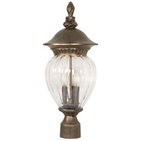 Nuvo Lighting Balun 3 Light Outdoor Post Lantern in Platinum Gold 60/791 photo thumbnail