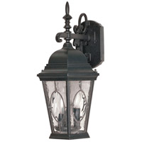 Nuvo Lighting Fordham 3 Light Outdoor Wall Lantern in Textured Black 60/793 photo thumbnail