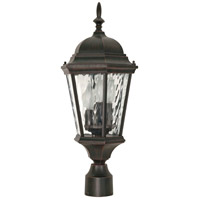 Nuvo Lighting Fordham 3 Light Outdoor Post Lantern in Old Penny Bronze 60/798 photo thumbnail