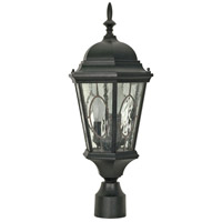Nuvo Lighting Fordham 3 Light Outdoor Post Lantern in Textured Black 60/799 photo thumbnail
