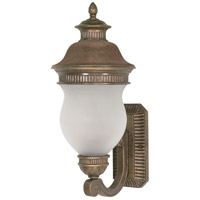 Nuvo Lighting Luxor 2 Light Outdoor Wall Lantern in Platinum Gold 60/876