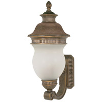 Nuvo Lighting Luxor 3 Light Outdoor Wall in Platinum Gold 60/878