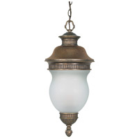 Nuvo Lighting Luxor 3 Light Outdoor Hanging Lantern in Platinum Gold 60/882