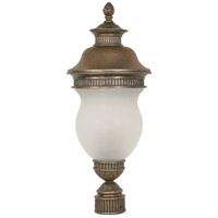Nuvo Lighting Luxor 3 Light Outdoor Post Lantern in Platinum Gold 60/884