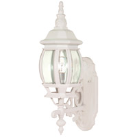 Nuvo 60/885 Central Park 1 Light 20 inch White Outdoor Wall Lantern