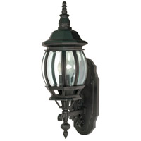 Nuvo 60/887 Central Park 1 Light 20 inch Textured Black Outdoor Wall Lantern