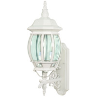 Nuvo 60/888 Central Park 3 Light 23 inch White Outdoor Wall Lantern