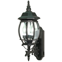 Nuvo Lighting Central Park 3 Light Outdoor Wall Lantern in Textured Black 60/890