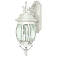 Nuvo 60/891 Central Park 3 Light 23 inch White Outdoor Wall Lantern