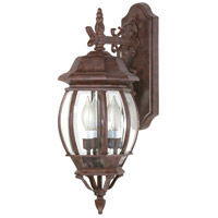 Central Park 3 Light 23 inch Old Bronze Outdoor Wall Lantern