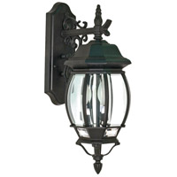 Central Park 3 Light 23 inch Textured Black Outdoor Wall Lantern