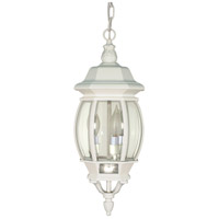 Nuvo 60/894 Central Park 3 Light 7 inch White Outdoor Hanging Lantern