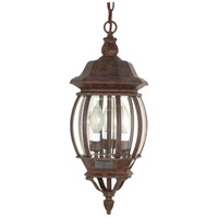 Central Park 3 Light 7 inch Old Bronze Outdoor Hanging Lantern