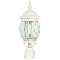 Central Park 3 Light 21 inch White Outdoor Post Lantern