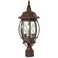 Central Park 3 Light 21 inch Old Bronze Outdoor Post Lantern
