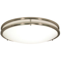 Glamour 3 Light 13 inch Brushed Nickel Flushmount Ceiling Light