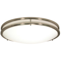 Glamour 3 Light 17 inch Brushed Nickel Flushmount Ceiling Light
